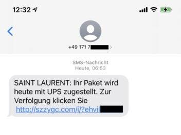 Eine Betrugs-SMS
