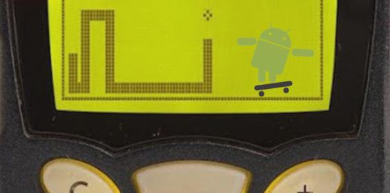 Snake auf dem Nokia 5110 Android