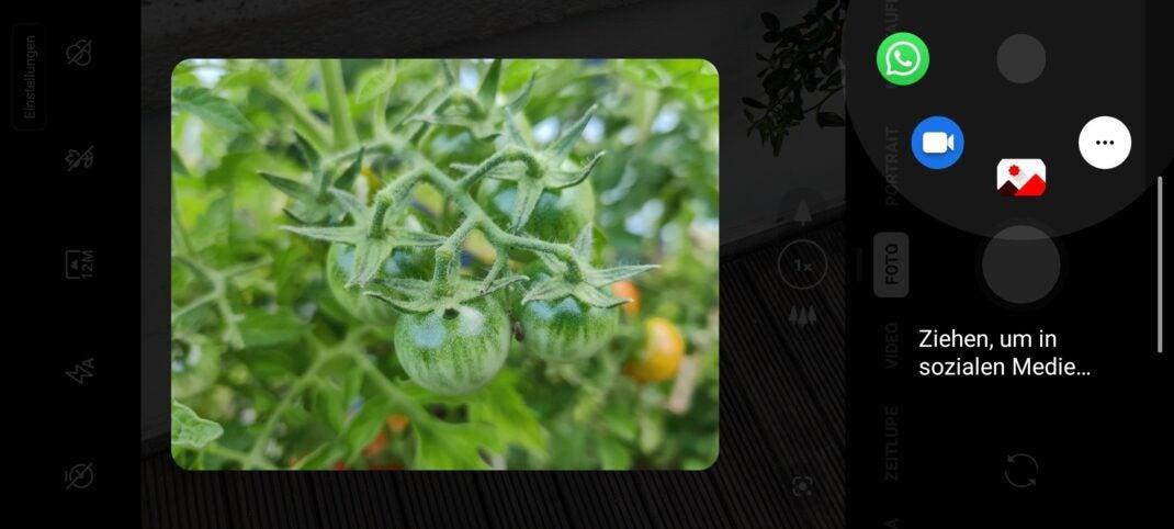 Soziale Medien in der OnePlus Kamera-App