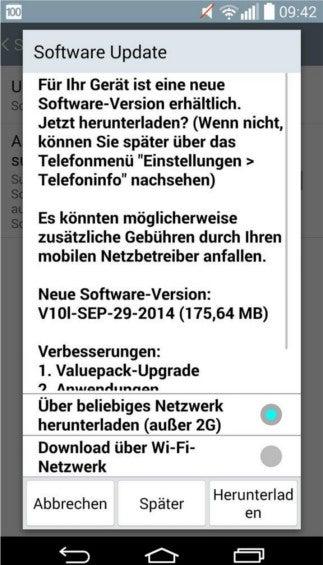 Softwareupdate LG G3
