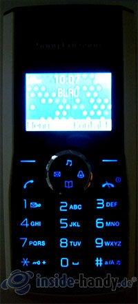 Sony Ericsson J110i: Beleuchtung