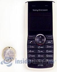 Sony Ericsson J110i: Größenverhältnis