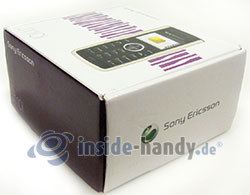 Sony Ericsson J110i: Verpackung