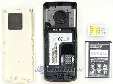 Sony Ericsson J110i: zerlegt in Bestandteile