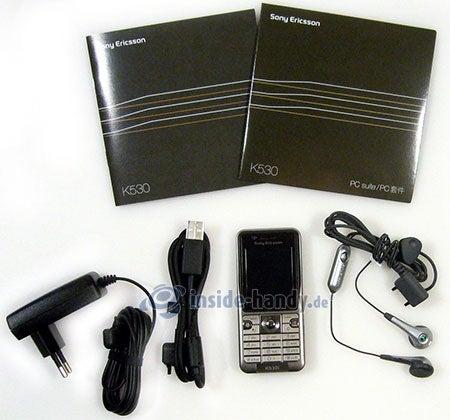Sony Ericsson k530i: Lieferumfang