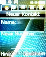 Sony Ericsson k530i: Neuer Kontakt