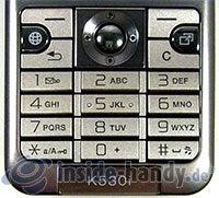 Sony Ericsson k530i: Tastatur