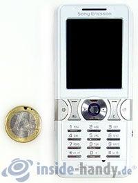 Sony Ericsson K550i: Größenverhältnis