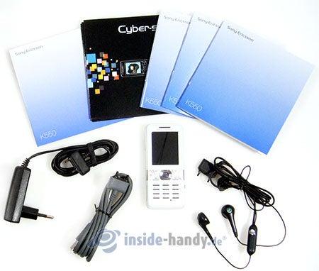 Sony Ericsson K550i: Lieferumfang