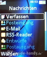 Sony Ericsson K550i: Nachrichten