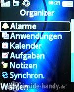 Sony Ericsson K550i: Organizer