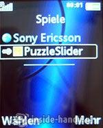 Sony Ericsson K550i: Spiele