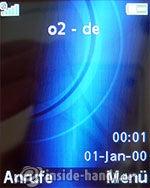 Sony Ericsson K550i: Startbildschirm