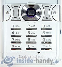 Sony Ericsson K550i: Tastatur