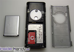 Sony Ericsson K600i - auseinander