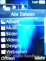 Sony Ericsson K810i: Alle Dateien