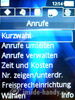 Sony Ericsson K810i: Anrufe