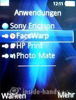Sony Ericsson K810i: Anwendungen