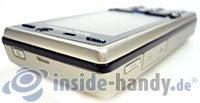 Sony Ericsson K810i: Draufsicht oben links