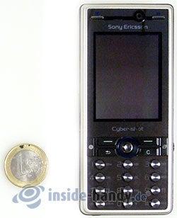 Sony Ericsson K810i: Größenverhältnis