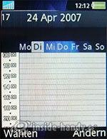 Sony Ericsson K810i: Kalender