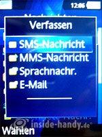 Sony Ericsson K810i: Nachricht schreiben