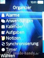 Sony Ericsson K810i: Organizer