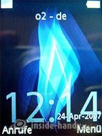 Sony Ericsson K810i: Startbildschirm