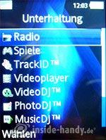 Sony Ericsson K810i: Unterhaltung