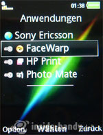 Sony Ericsson k850i: Anwendungen