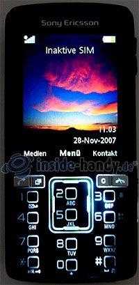 Sony Ericsson k850i: Beleuchtung