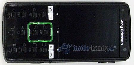 Sony Ericsson k850i: Draufsicht