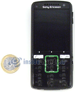 Sony Ericsson k850i: Größenverhältnis