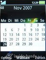 Sony Ericsson k850i: Kalender
