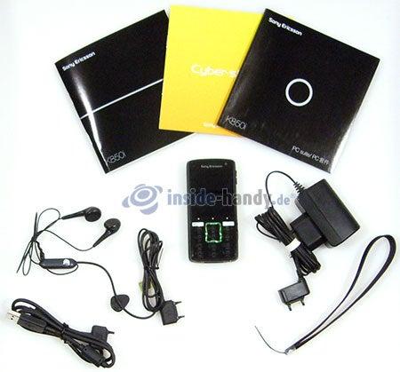 Sony Ericsson k850i: Lieferumfang