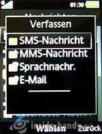 Sony Ericsson k850i: Neue Nachricht