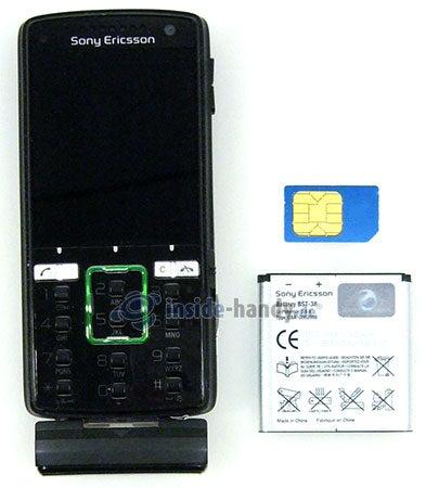 Sony Ericsson k850i: offenes Gerät Front