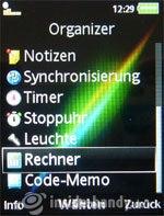Sony Ericsson k850i: Organizer