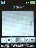 Sony Ericsson k850i: Rechner