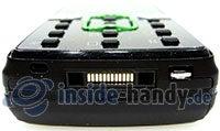 Sony Ericsson k850i: Seitenansicht unten