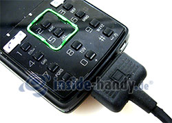 Sony Ericsson k850i: USB-Kabel Anschluss
