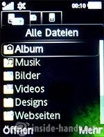 Sony Ericsson S500i: Alle Dateien
