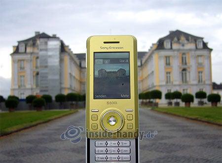 Sony Ericsson S500i: beim Fotografieren