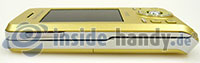 Sony Ericsson S500i: Draufsicht links