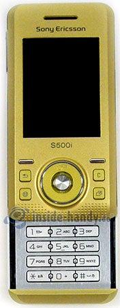 Sony Ericsson S500i: Draufsicht