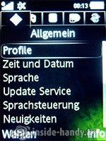 Sony Ericsson S500i: Einstellungen