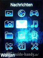 Sony Ericsson S500i: Hauptmenü