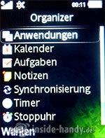 Sony Ericsson S500i: Organizer