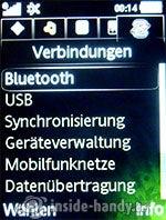 Sony Ericsson S500i: Verbindungen