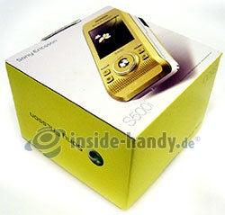 Sony Ericsson S500i: Verpackung